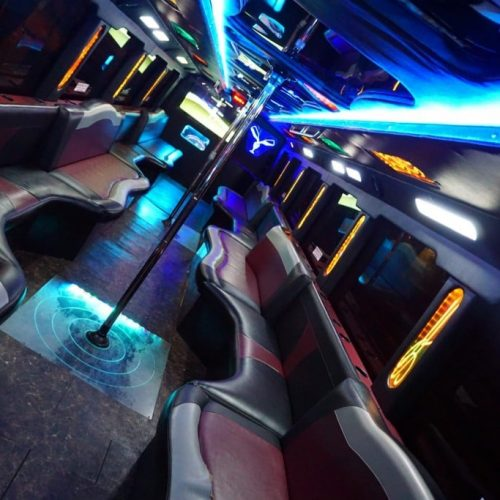 Houston Party Bus Lounge Mega 45 Passenger