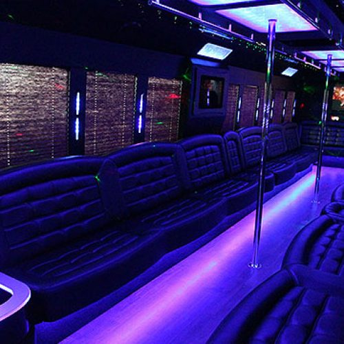 Houston Party Bus Lounge Mega 50 Passenger