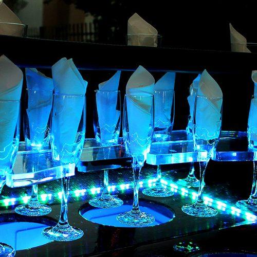 Houston-Party-Bus-Lounge-Sprinter-glassware
